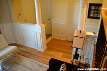 Vella Contracting wainscoting on half wall