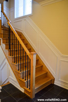 Vella Contracting Wainscoting on stairs