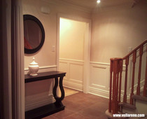 recessed wainscoting in hallway