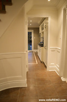 recessed wainscoting in hall