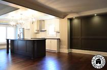 Kitchen cabinets hardwood flooring moulding trimwork