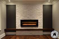 Fireplace electric renovation accent wall