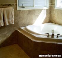custom tub surround travertine